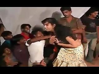 Dancing Exotic Indian Public Striptease