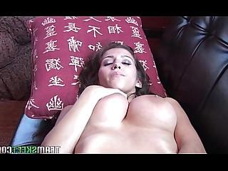 Babe Big Tits Boobs Brunette Dildo Masturbation Shaved Solo