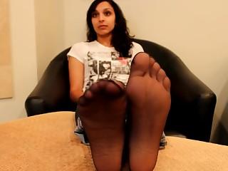 Black Brunette Casting Feet Foot Fetish Indian Nylon